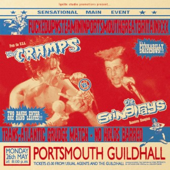 CRAMPS / STING -RAYS : Fuckedup and steamin in portsmouth great britain