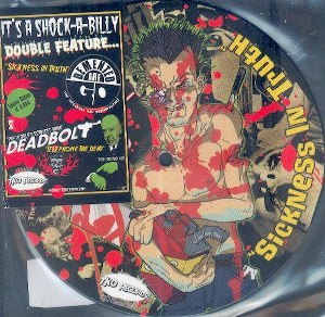 DEMENTED ARE GO/DEADBOLT : SPLIT 7''INCH PICTURE DIsc