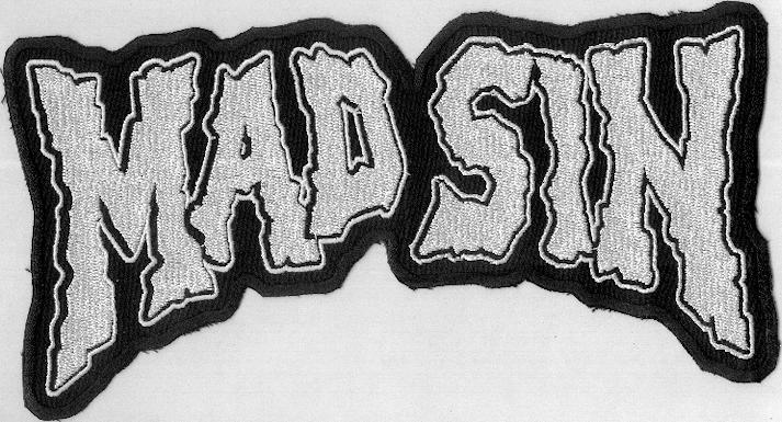 Mad Sin back patch White :
