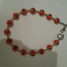 Wallet Chain orange/white : 13 :